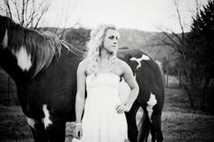 Rustic senior shoot with horses by A Photography