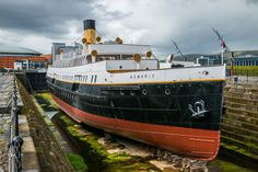 https://flic.kr/p/H8Q4hW   SS Nomadic in Dry Dock   SS Nomadic was built specifically as a tender vessel for the White Star Line, and was used to ferry passengers to RMS Titanic in 1912 off the coast of France. Photographed near Titanic Belfast.  Situated in the old Harland & Wolff shipyard in Belfast, Northern Ireland.