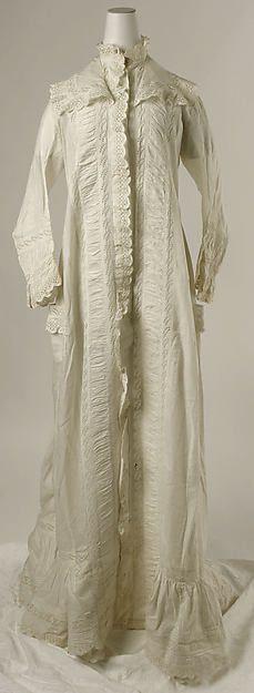 Tea gown (image 1) | British | 1880 | cotton | Metropolitan Museum of Art | Accession #: C.I.55.9.1