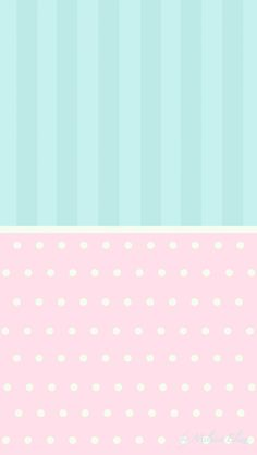 Pastel dots stripes aqua pink wallpaper background