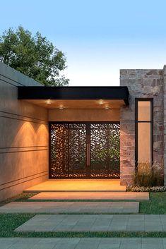 NF Arquitecta, Casa La Macarena - Play Tutorial and Ideas Modern House Facades, Modern House Design, Minimalist House Design, Villa Design, Gate Design, Modern Exterior, Exterior Design, Terraced Landscaping, House Entrance