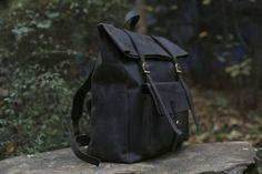 Large Leather Backpack/ Native Leather от NativeLeatherDesign