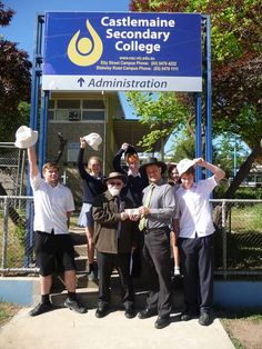 Castlemaine Secondary College recieved a grant from the Castlemaine Lions Club to purchase hats.