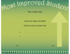 This computer literacy achievement certificate features the back most improved student certificate printable certificate yadclub Gallery