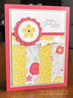Birthday Card; Stampin Up; All Abloom; www.cardcreationsbybeth.com