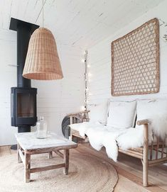 A source to draw inspiration from Rattan, New Homes, Living Room, Deco, Instagram, House, Inspiration, Heart, Nature