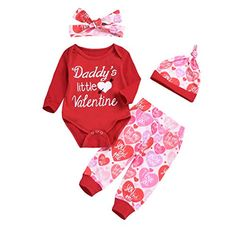 Kids Baby Boys Girls Valentine/'s Day Clothes Printed Jumpsuit Romper 3M-24M S2