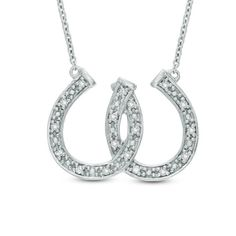 Shop for CT. Diamond Double Horseshoe Necklace in Sterling Silver by Zales at ShopStyle. Horseshoe Necklace, Silver Chain Necklace, Sterling Silver Necklaces, Silver Earrings, Silver Ring, Diamond Stone, Necklace Designs, Colored Diamonds, Fashion Necklace