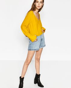 BUTTONED TOP-TOPS-TRF | ZARA United States