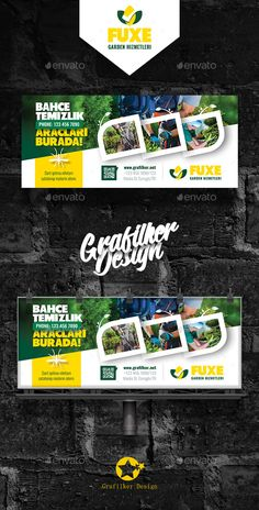 Garden Landscape Billboard Templates by grafilker Garden Landscape Billboard Templates Fully layeredINDDFully layeredPSD300 Dpi, CMYKIDML format openIndesign CS4 or laterCompletely