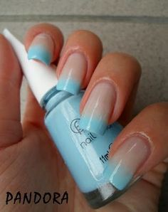 Gradient french nail design