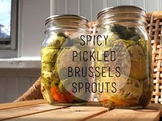 Spicy Pickled Brussels Sprouts Recipe - Putting Up With Erin