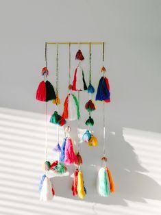 colorful tassel hanging // Peruvian textiles
