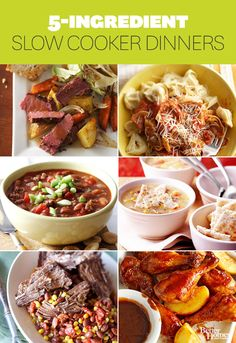 5 ingredient #slowcooker recipes. #crockpot