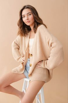 Tops – Page 2 – Love Street Apparel Love Street Apparel, Casual Shorts Outfit, Oversized Knit Cardigan, Winter Wardrobe, Short Outfits, My Style, Sweaters, How To Wear, Clothes