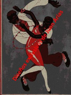 Bailarines en punto cruz
