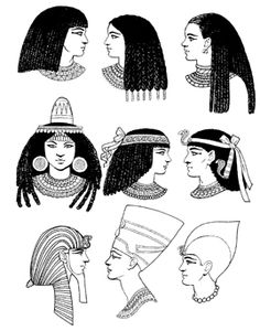 Rich Hair and headwear: Early Egypt to ~1300 BCE Artist: Tom Tierney