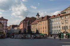 Hauptplatz, July 2014 by Otmar Lichtenwörther on Maine, Street View, Spaces, Graz
