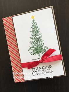 Lovely as a Tree. Stampin' Up! Christmas card. The crafty yogi.