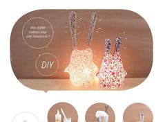 tuto-lampe Craft Gifts, Diy Gifts, Diy Lampe, Handmade Home, Paper Toys, Baby Crafts, Diy For Kids, At Least, How To Make