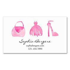 Fashion Watercolor Pink Boutique Business Card. I love this design! It is available for customization or ready to buy as is. All you need is to add your business info to this template then place the order. It will ship within 24 hours. Just click the image to make your own!