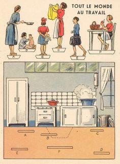 autravail  paper model kitchen