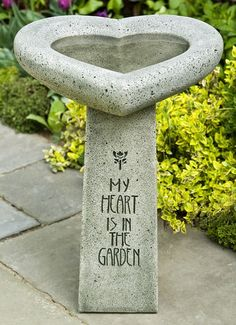 Heart Shaped Bird Bath ~  LOVE THIS! Description from pinterest.com. I searched for this on bing.com/images