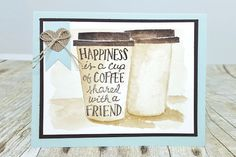 Coffee Painting Tutorial - Splitcoaststampers