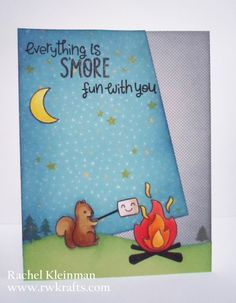 Lawn Fawn - Love You S'more, Hello Sunshine 6x6 paper _ cute card by Rachel via Flickr - Photo Sharing!