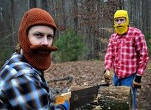 HAhahah Lumberjack beanies with facial hair...these are awesome!