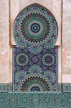 Mosaic Tile at Mosque Hassan II, Casablanca.