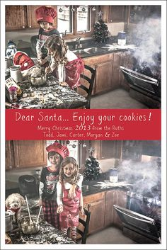 Christmas card photo ideas kids.  Hilarious