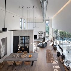 Going for these interior design loft style ideas may very well be the best living style for you, and you do not know it yet Interior Design Minimalist, Loft Interior Design, Loft Design, Deco Design, Interior Architecture, Interior Ideas, Contemporary Interior, Interior Designing, Amazing Architecture