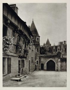 1927 Chateau Josselin Brittany France Medieval Castle - ORIGINAL PHOTOGRAVURE