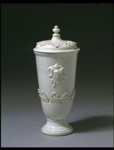 Vase Meissen, Germany (made) ca. 1715 - 1720 (made) Artist/Maker: Irminger, Johann Jacob (modeller) Meissen porcelain factory (manufacturer) Böttger's experimental white hard-paste porcelain with applied reliefs