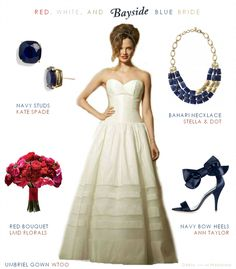 Thinking of an Americana wedding? If red, white, and blue are in your color scheme take a peak at these patriotic looks!