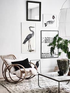 Love the rattan rocking chair