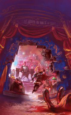 """Man at Arms"" -- Sir Terry Pratchett's Discworld by marc simonetti, via Behance"