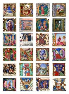 Medieval Illuminated Manuscript Cookie Wafer Papers by CookiePixie on Etsy