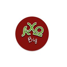 Alpha Chi Omega Button . Big or Little Sister . 2.25""