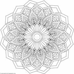 Flower Mandala Coloring Pages #500