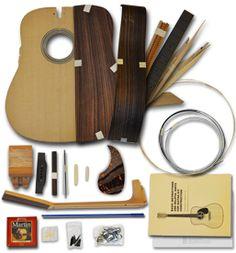 "Acoustic Guitar Kits : Rosewood Guitar Kits - ""D"" (Dreadnought Herringbone) - International"