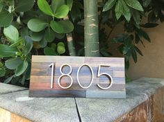 4 number reclaimed wood address plaque!