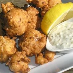 Clam Fritters Recipe on Yummly. Clam Recipes, Seafood Recipes, Asian Recipes, Cooking Recipes, Ethnic Recipes, Oyster Recipes, Calamari Recipes, Shellfish Recipes, Seafood Dishes