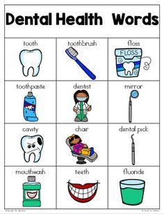 Health Writing Center Dental Health Writing Center Kit for Pre-K and Kindergarten.Dental Health Writing Center Kit for Pre-K and Kindergarten. Dental Health Month, Oral Health, Public Health, Dental Care, Health Words, Health Quotes, Health Lessons, Health Tips, Learning