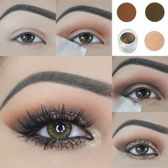 #Make-up #brown #eyes