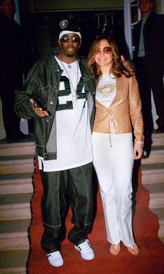 Jennifer Lopez And P. Diddy In London, 2000