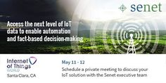 Senet ‏@senetco: Going to #iotworld16? Schedule a meeting to discuss your #IoT solution with @senetco execs http://www.senetco.com/events
