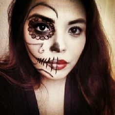 Dead Pirate girl face painting for halloween --> same makeup can ...