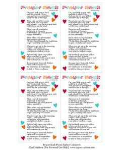 Remember our Prayer Rocks ? Here below is another free printable poem to go with them. Activity Day Girls, Activity Days, Sunday School Lessons, Sunday School Crafts, Prayer Rocks, Printable Prayers, Free Printable, Prayer Stations, Christian Crafts